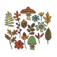 Sizzix Thinlits Die Set 16 PK by Tim Holtz - Funky Foliage