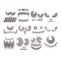 Sizzix Thinlits Die Set 12PK  by Tim Holtz - Frightening Faces