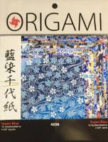 "Yasutomo Origami Paper 10/pkg 4 5/8"" -  Yuzen Blue"