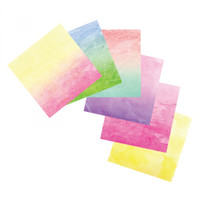 "Sizzix Watercolor Wash Adhesive Sheets - 6"" x 6"", Assorted, 12 Sheets"