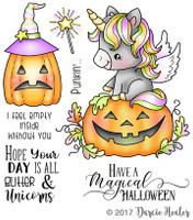 Darcie's Heart & Home Cling Stamp Set - Magical Halloween