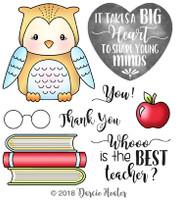 Darcie's Heart & Home Cling Stamp Set - Best Teacher