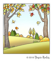 Darcie's Heart & Home Cling Stamp Set - Autumn Scene