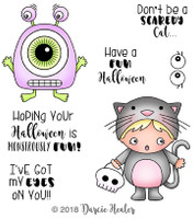 Darcie's Heart & Home Cling Stamp Set - Monstrously Fun