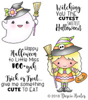 Darcie's Heart & Home Cling Stamp Set - Witching You Cutest