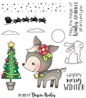 Darcie's Heart & Home Cling Stamp Set - Winter Sparkle