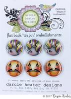 Darcie's Heart & Home Tin Pins - Magical Halloween