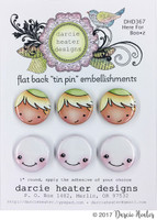 Darcie's Heart & Home Tin Pins - Here For the Boo z