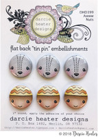 Darcie's Heart & Home Tin Pins - Awww Nuts