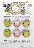 Darcie's Heart & Home Tin Pins - Peeking Ghouls