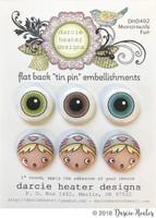 Darcie's Heart & Home Tin Pins - Monstrously Fun