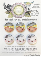 Darcie's Heart & Home Tin Pins - Witching You Cutest