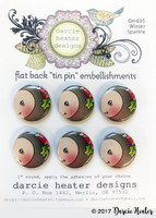 Darcie's Heart & Home Tin Pins - Winter Sparkle