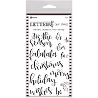 "Ranger Letter It Clear Stamp Set 4""X6"" - Christmas"