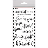 "Ranger Letter It Clear Stamp Set 4""X6"" - Rejoice"