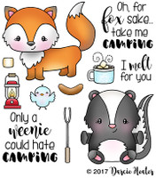 Darcie's Heart & Home Cling Stamp Set - Weenies Love Camping