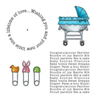Art Gone Wild Cling Mount Stamp Set - Baby Wheel