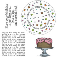 Art Gone Wild Cling Mount Stamp Set - Birthday Wheel