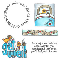 Art Gone Wild Cling Mount Stamp Set - Get Well Wheel