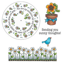 Art Gone Wild Cling Mount Stamp Set - Sunshine Wheel