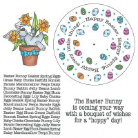 Art Gone Wild Cling Mount Stamp Set - Easter Wheel