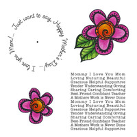 Art Gone Wild Cling Mount Stamp Set - Mother's Day Wheel