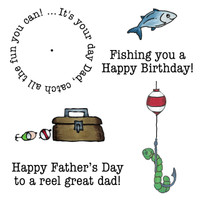 Art Gone Wild Cling Mount Stamp Set - Fishing Dad Wheel