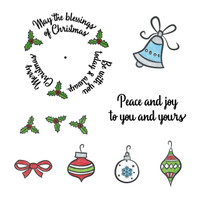 Art Gone Wild Cling Mount Stamp Set - Blessings Of Christmas Wheel