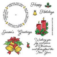 Art Gone Wild Cling Mount Stamp Set , Exclusive to SMS - Christmas Joy Wheel