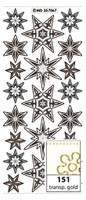 Doodey Peel Off Stickers - Stars (Transparent Gold)