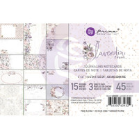"Prima Marketing, Lavender Frost Journaling Cards Pad 4""X6"" 45/Pkg"