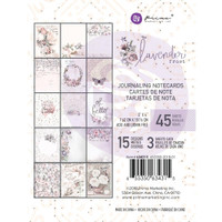 "Prima Marketing, Lavender Frost Journaling Cards Pad 3""X4"" 45/Pkg"