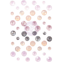 Prima Marketing, Lavender Frost Say It In Crystals Adhesive Embellishments
