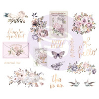 "Prima Marketing, Lavender Frost Chipboard Stickers 5""X8"" 2/Pkg Icons With Foil Accents"