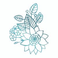 Couture Creations Le Petit Jardin - Floral Arrangement 2 HotFoil Stamp