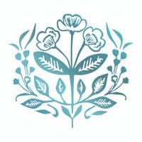 Couture Creations Le Petit Jardin - Floral Wreath HotFoil Stamp