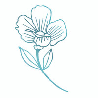 Couture Creations Le Petit Jardin - Primrose Flower HotFoil Stamp
