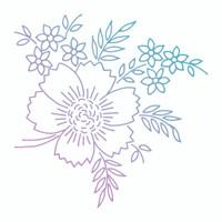 Couture Creations Le Petit Jardin - Floral Arrangement Mini Stamp