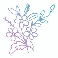 Couture Creations Le Petit Jardin - Jasmine Flowers Mini Stamp