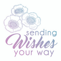 Couture Creations Le Petit Jardin - Sending Wishes Mini Stamp