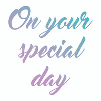 Couture Creations Le Petit Jardin - Special Day Mini Stamp