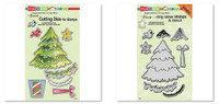 Stampendous Cling Stamps and  Dies Bundle - Create Christmas