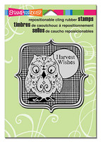 Stampendous Cling Rubber Stamp - Harvest Owl