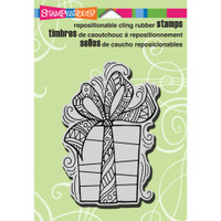 Stampendous Cling Rubber Stamp -  Pen Patterned Gift