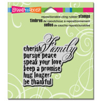 Stampendous Cling Stamp - Cherish Family