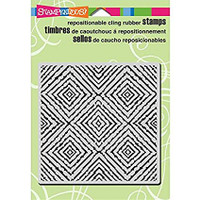 Stampendous Cling Rubber Stamp - Square Illusions