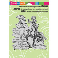 Stampendous Cling Rubber Stamp - Rodeo Girl