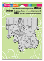 Stampendous Cling Rubber Stamp - Sugar Plum Fairy