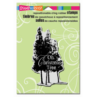 Stampendous Cling Rubber Stamp - Christmas Tree
