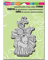 Stampendous Cling Rubber Stamp - Pen Pattern Moose